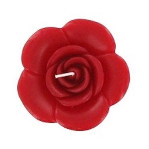 Red Rose Floating Candles Party Supplies 6 Count
